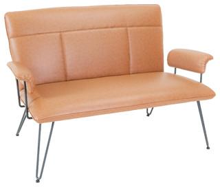 Charlotte modern tan loveseat midcentury sofas by Modern furniture charlotte
