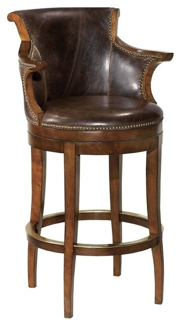 New Counter Stool Waxed Cherry Finish traditional-bar-stools-and-counter-stools