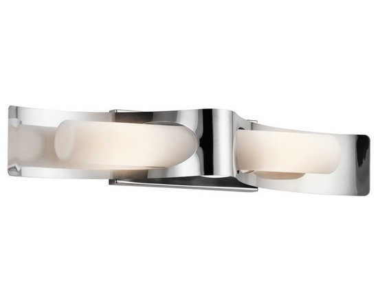 Kichler Lighting - Polished Stainless Steel Lifetime Finish Zolder 2 Light 27 Outdoor Wall Light - Kichler 49151 Marine Grade Zolder Outdoor Wall Light This 2 light halogen outdoor wall fixture from the Zolder collection will make a bold impact. The Polished Stainless Steel Marine Grade 316 finish, curved metal accents and Satin Etched Cased Opal Glass will effortlessly enhance any space.