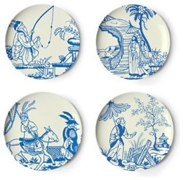 Thomas Paul Hong Kong Garden Dinner Plate Set by Amazon asian-plates