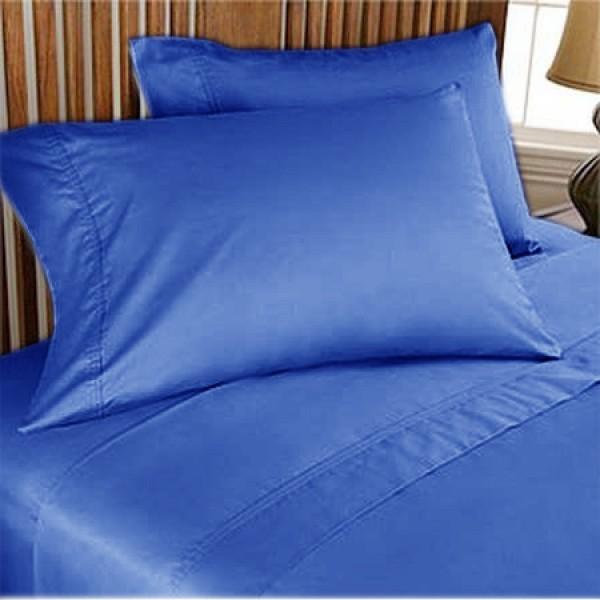 1000TC Egyptian Cotton Sheet Set 4pc Egyptian Blue - FREE USA