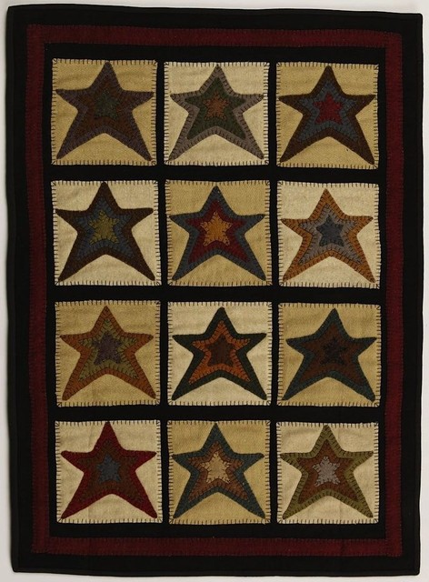 Contemporary Star Patch Cream 7'x9' Rectangle Cream-Beige Area Rug contemporary-rugs