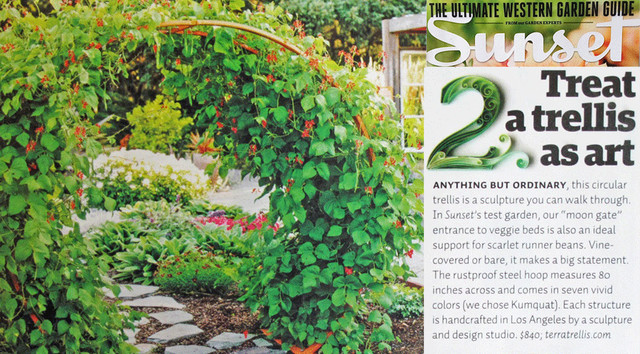 TerraTrellis in Sunset Magazine Test Garden Modern
