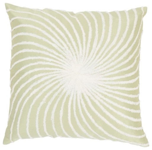 """T-3587 18"""" Decorative Pillow in Sage Green / White (Set of 2) modern-decorative-pillows"""