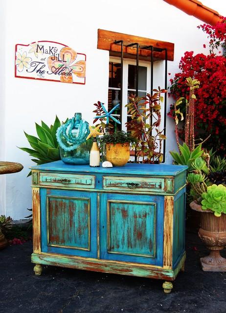 Custom Painted Furniture Eclectic Orange