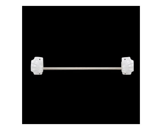 White Ceramic Towel Bar Holder - Ceramic bath accessories give bathrooms vintage style and substance. Easy to clean, long lasting, and stylish.