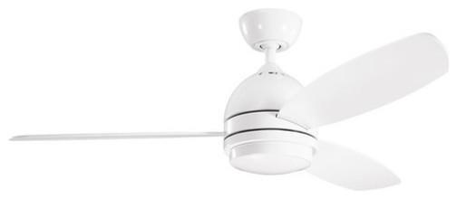 "Kichler 300175WH Vassar 52"" Indoor Ceiling Fan 3 Blades - Remote, Light modern-ceiling-fans"