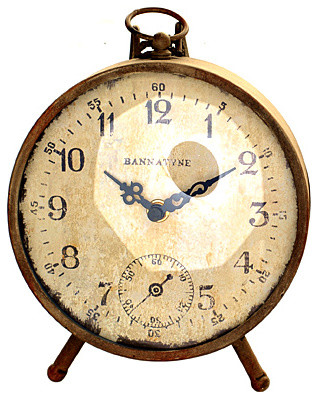 Antique Iron Clock eclectic clocks