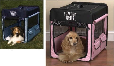 Polka Dot Collapsible Dog Crate modern-pet-beds