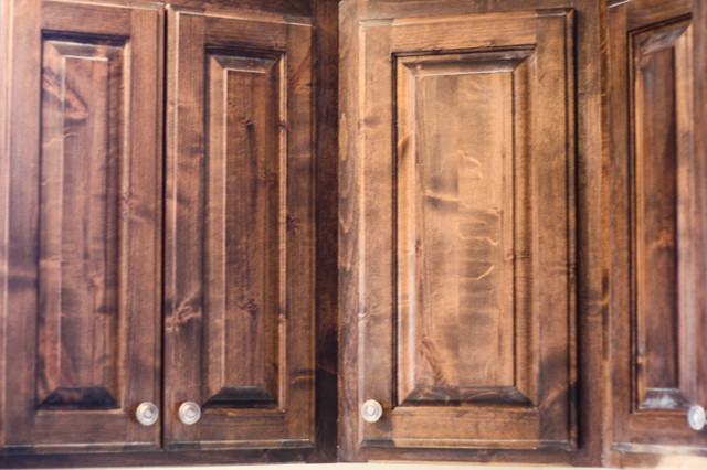 Knotty Alder Cabinets Traditional Kansas City By