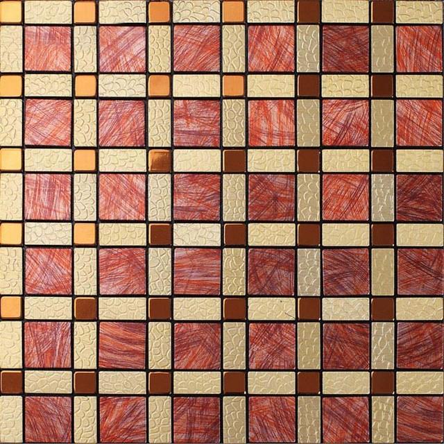 metal tile backsplash design ideas aluminum kitchen tiles