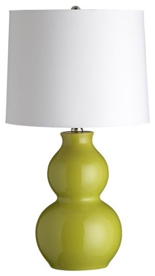 Zing Green Table Lamp contemporary table lamps