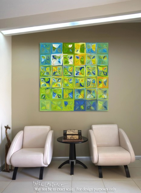 Modern Abstract Mosaic Tile Paintings contemporary-artwork