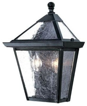 Outdoor Lighting. Bay Street Collection Wall-Mount 2-Light Outdoor Matte Black L contemporary-outdoor-wall-lights-and-sconces