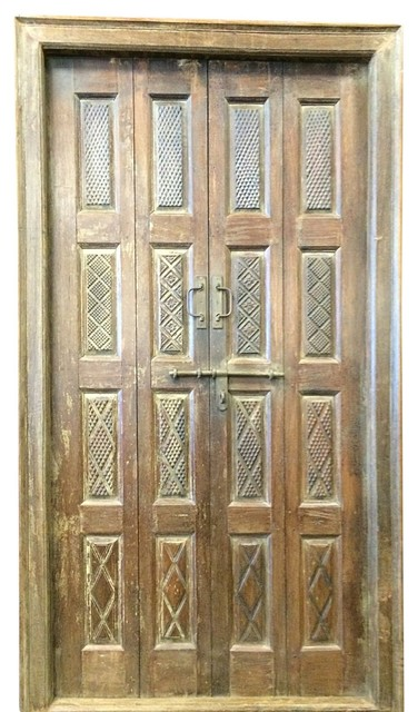 Wooden door indian style mediterranean interior doors for Mediterranean interior doors