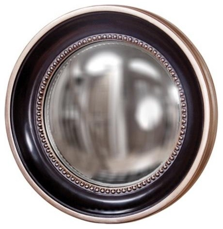 Howard Elliott Patterson 16 Convex Round Wall Mirror eclectic mirrors