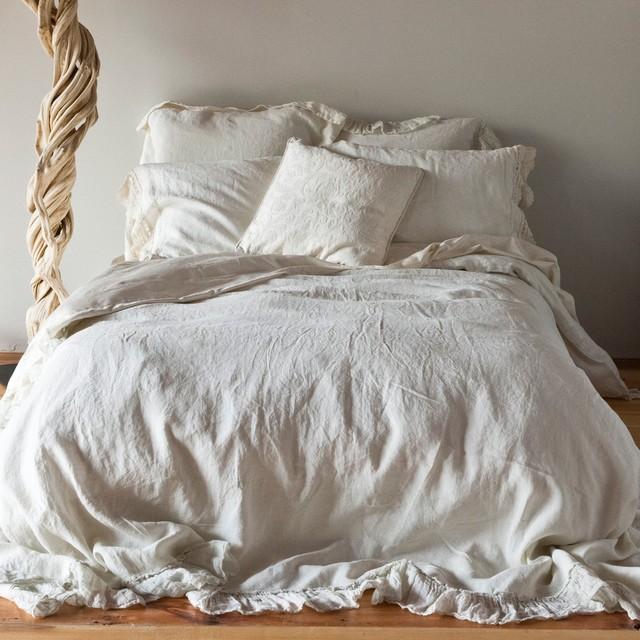 Bella Notte Duvet Cover Whisper Linen Traditional