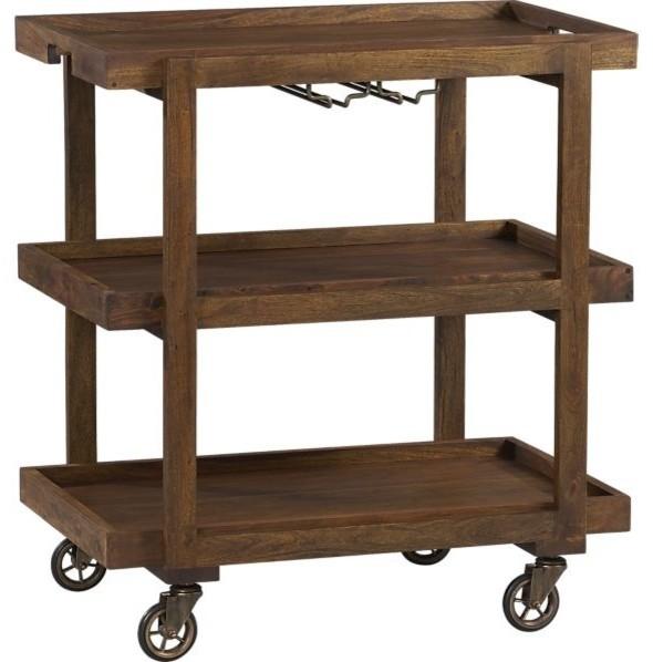 Collins Bar Cart Modern Bar Carts By Crate Barrel
