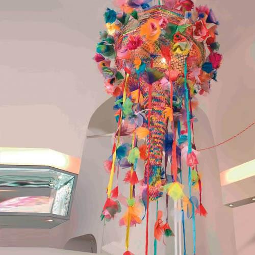 Artecnica Come Rain Come Shine Chandelier: Multicolor or Black modern-chandeliers