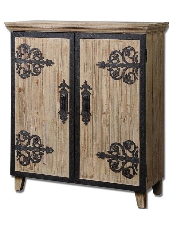 Uttermost - Natural Wood Abelardo Rustic Console Cabinet - Natural Wood Abelardo Rustic Console Cabinet