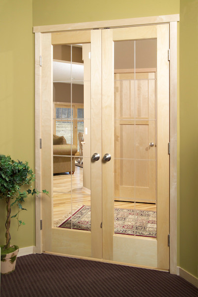 V-Grooved Glass Door - minneapolis - by Stallion Doors and Millwork