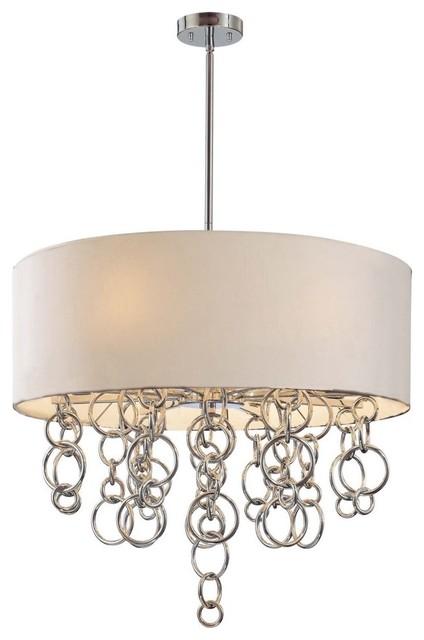 George Kovacs by Minka P612-0-077 8-Light Pendant - Chrome - 26.5W in. modern-pendant-lighting