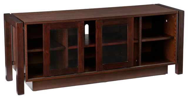 Kenton TV Stand/Media Console, Espresso contemporary-media-storage