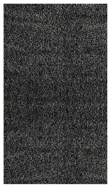 Shag Shag 8'x10' Rectangle Black-Gray Area Rug modern-rugs