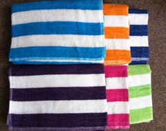 Cabana Stripe Beach Towels modern towels