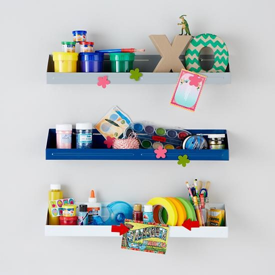 Up against the wall bin contemporary display and wall for Wall shelves kids room