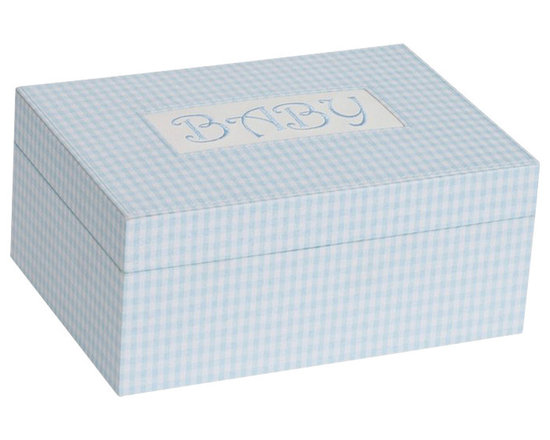 Mele Jewelry - Mele and Co. Darby Baby Memories Keepsake Box in Blue - Mele Jewelry - Jewelry Boxes - 0020340