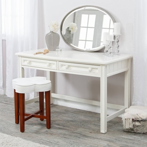 Casey White Bedroom Vanity Traditional Bathroom Vanities And Sink Consoles By Hayneedle