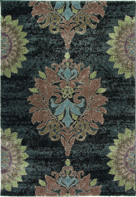 "Wild Weave Jacqline 7'10"" x 10'10"" Steel Rug contemporary-rugs"