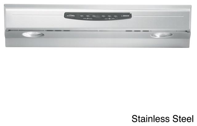 Broan QS230 Allure Series 30-inch Under Cabinet 300 CFM Range Hood - Contemporary - Range Hoods ...