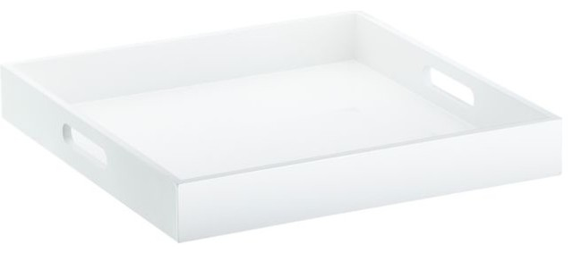 Square Hi-Gloss White Tray contemporary-serving-dishes-and-platters