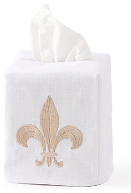 Http Www Houzz Com Photos 6553660 Fleur De Lis Tissue Box Cover Traditional Bath And Spa Accessories