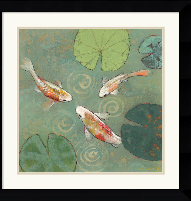 Floating Motion I Framed Print by Aleah Koury traditional-prints-and-posters