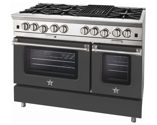 "BlueStar Platinum Series: 48"" Range - 48"" BlueStar Platinum Range in Traffic Grey (RAL 7043)"