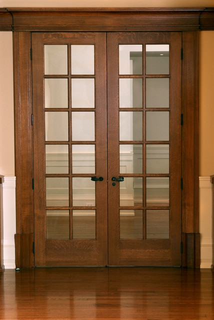 Custom 12 panel quarter sawn white oak french door for Oak french doors