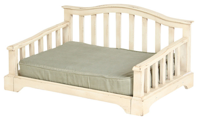 French Country Pet Bed With Orthopedic Foam Mattress