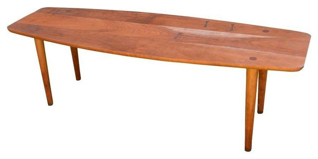 Mid Century Modern Surfboard Coffee Table Midcentury Coffee Tables