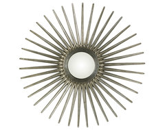 Sunburst Mirror - Silver Finish modern mirrors