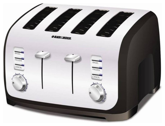 black decker t4030 4 slice toaster modern toasters. Black Bedroom Furniture Sets. Home Design Ideas