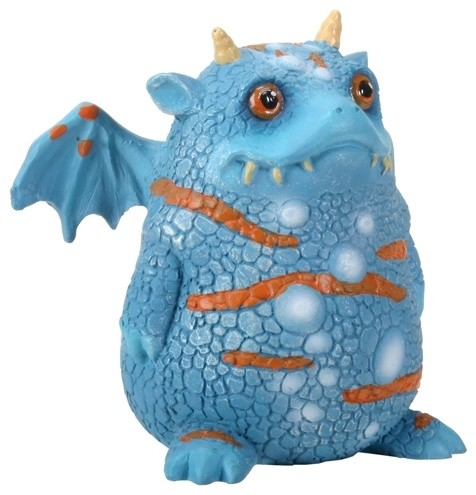 "2.75"" Blue and Orange Proggle The Fat Little Clueless Dragon Figurine contemporary-decorative-objects-and-figurines"