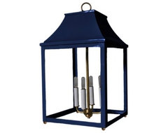 Palo Alto Lantern, Club Navy contemporary-pendant-lighting