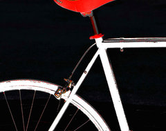 Bike In Black White And Red No 1 giclee art print by Ben and Raisa Gertsberg modern artwork