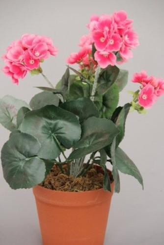 Pink Geranium Artificial Replica Plant modern-artificial-flowers