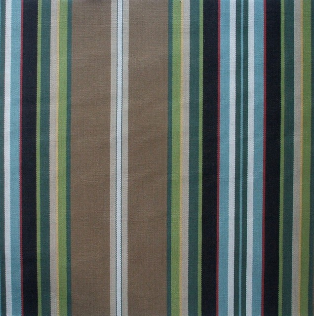 50W X 72L Shower Stall Curtain Carlton Stripe Walnut Brown