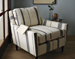 Everett Striped Chair contemporary-armchairs