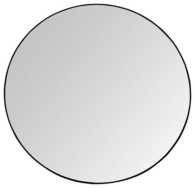Argie Round Mirror 48 Transitional mirrors